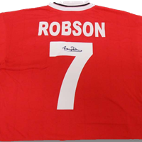BRYAN ROBSON - 1983 FA CUP FINAL SHIRT SIGNED BY ROBBO